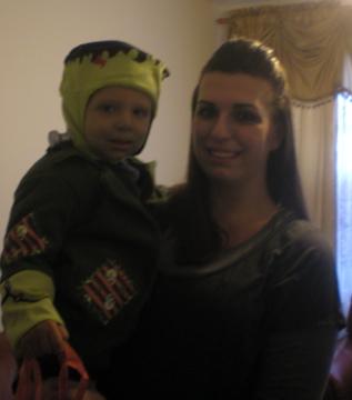 Frankenbaby does Halloween