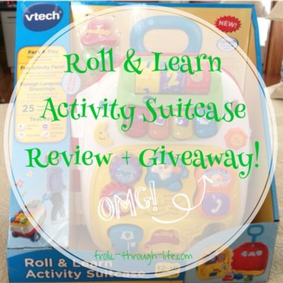 Vtech Roll & Learn Activity Suitcase Review + Giveaway!