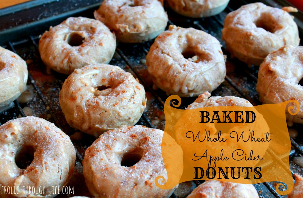 Baked Whole Wheat Apple Cider Donuts