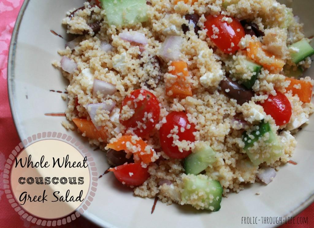 Whole Wheat Couscous Greek Salad