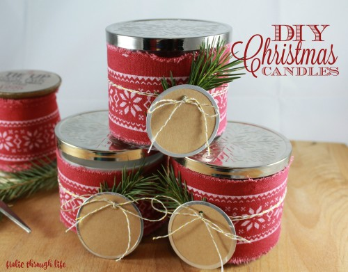 Easy DIY Festive Christmas Candles