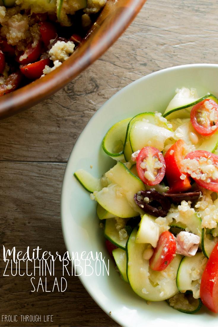 Mediterranean zucchini ribbon salad