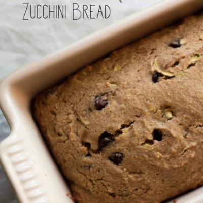 Whole Wheat Chocolate Chip Zucchini Bread
